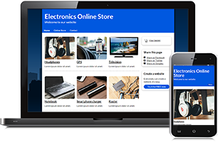 Electronics website example